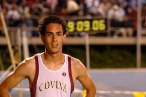 Andrew Tachias after winning the CIF-Southern Section two mile his senior year in a time of 9:09:06